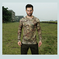 2017 New Camouflage Mesh Elastic Quickdry T-shirts O-neck Long sleeve Tees MC MTP MCA