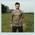 2017 Nueva Malla De Camuflaje Elástico de Secado Rápido Camisetas O-cuello de manga Larga Tees MC MTP MCA