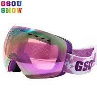 GSOU SNOW Ski Goggles For Men and Women Outdoor Multicolor Snowboard Goggles Winter Professional Unisex Snow Ski Sports Glass