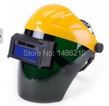 ФОТО New Fashion Solar Auto Darkening Welding Helmet Welder's Helmet Semi-open Solar Face Shield Welding Mask Solder Mask Capacete