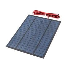 18 в 5 Вт удлиняющий провод Солнечная Панель поликристаллический кремний DIY зарядное устройство маленький мини Солнечный Кабель игрушка 18 в 5 Вт вольт ватт