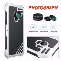 Dower Me Waterproof Shockproof Metal Aluminum Case Cover With Fisheye Wide Angle Macro Lens For Samsung Galaxy S9/8 Plus S7 Edge