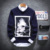 2016 hombres suéter de manga larga suéter suéter masculino de Alta Calidad fumar impresión masculino casual suéter tejido de punto envío gratis