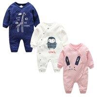 Newborn Wedding Clothes Baby Romper Long Sleeves 100 Cotton Overalls Baby Pajamas Cartoon Printed Baby Boys