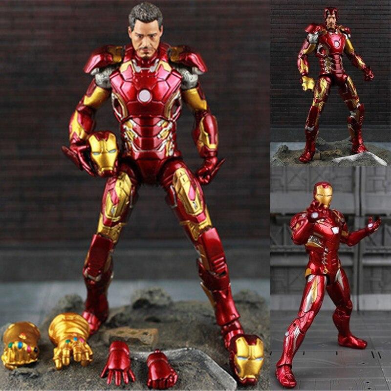 Nova quente theavengers ironman figura de ação modelo 18-20cm mk42 mk43 homem de ferro boneca pvc acgn figura brinquedo brinquedos anime crianças