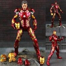 Nuovo Caldo TheAvengers IronMan Action Figure Modello di 18 20cm MK42 MK43 Iron Man Bambola PVC ACGN figura Giocattolo brinquedos Anime Giocattoli per bambini