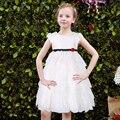 Acodó el Vestido de Bola de Las Muchachas Del Verano 2017 Muchachas de la Marca Vestido de la Princesa Del Banquete de Boda Trajes Niños Robe Fillette Niños Vestidos