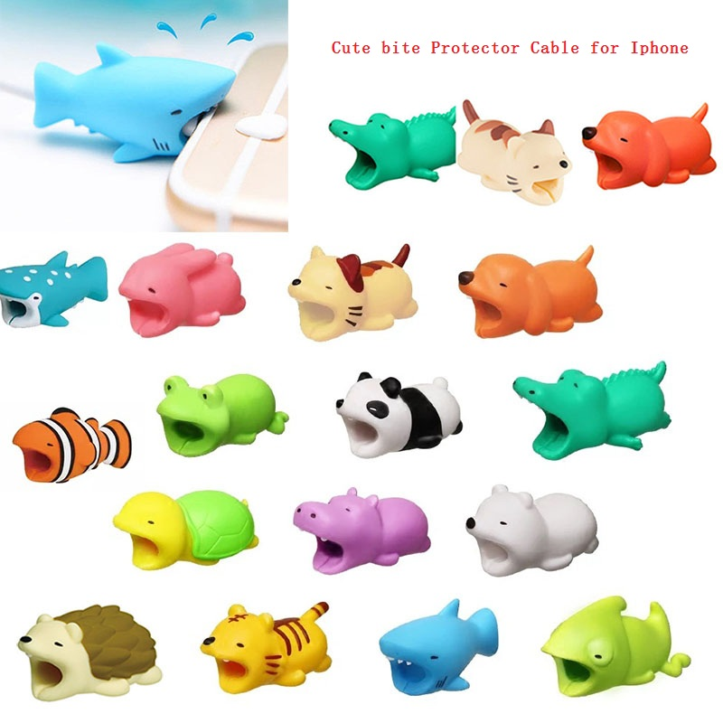 Cable Earphone-Accessories Management-Cable Bite-Protector Animal-Shaped Parts title=