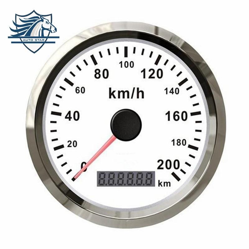Горячая Распродажа тележки автомобиля мотор авто GPS спидометр 200 км/ч из нержавеющей стали водонепроницаемый цифровой Измеритель бесплатная доставка