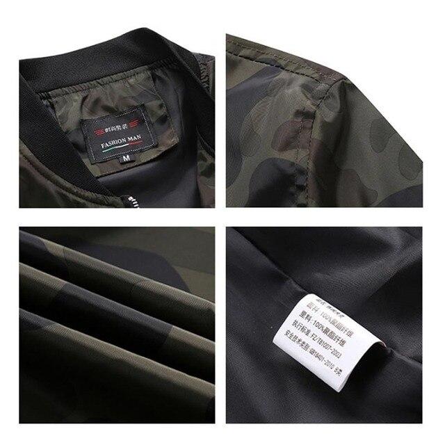 M-7XL 2019 New Autumn Men's Camouflage Jackets Male Coats Camo Bomber Jacket Mens Brand Clothing Outwear Plus Size M-7XL 4