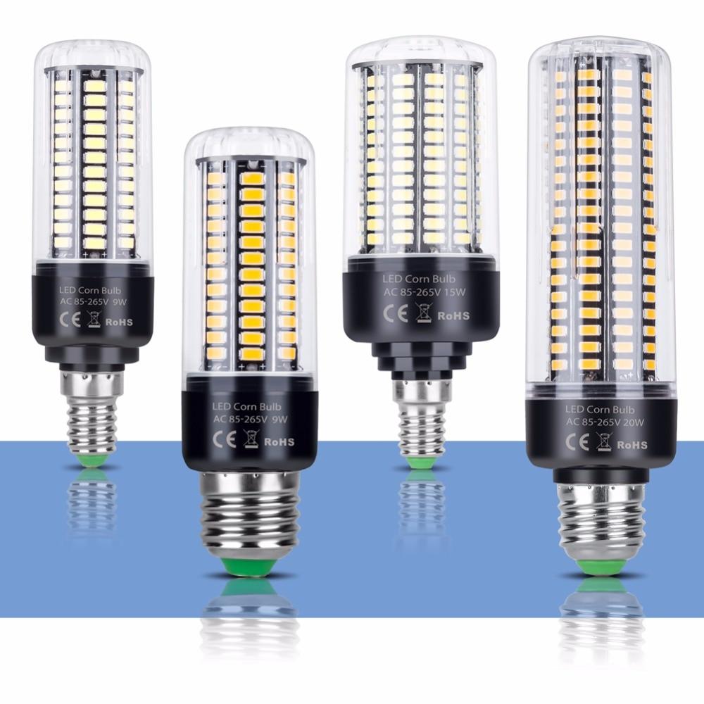 CanLing E14 LED Lamp E27 LED Bulb SMD 5736 220V Corn Bulb 28 40 72 108 132 156 189LEDs Chandelier LED Light For Home Decoration