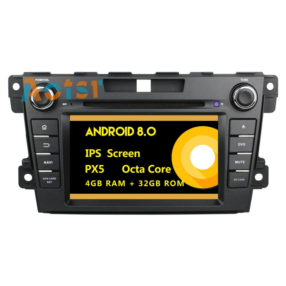 <font><b>2Din</b></font> Android 8.0 Car multimedia Player Autoradio GPS Navigation for <font><b>Mazda</b></font> <font><b>CX</b></font>-<font><b>7</b></font> 2012 2013 Octa core 4+32G 9 inch BT wifi with DVD image