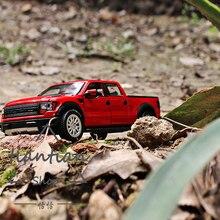 1:32 Подарочная Коробка подлинное Форд Raptor f150 пикап дети toys Сплава модели автомобиля несколько Цвет Вытяните Назад Звук огни