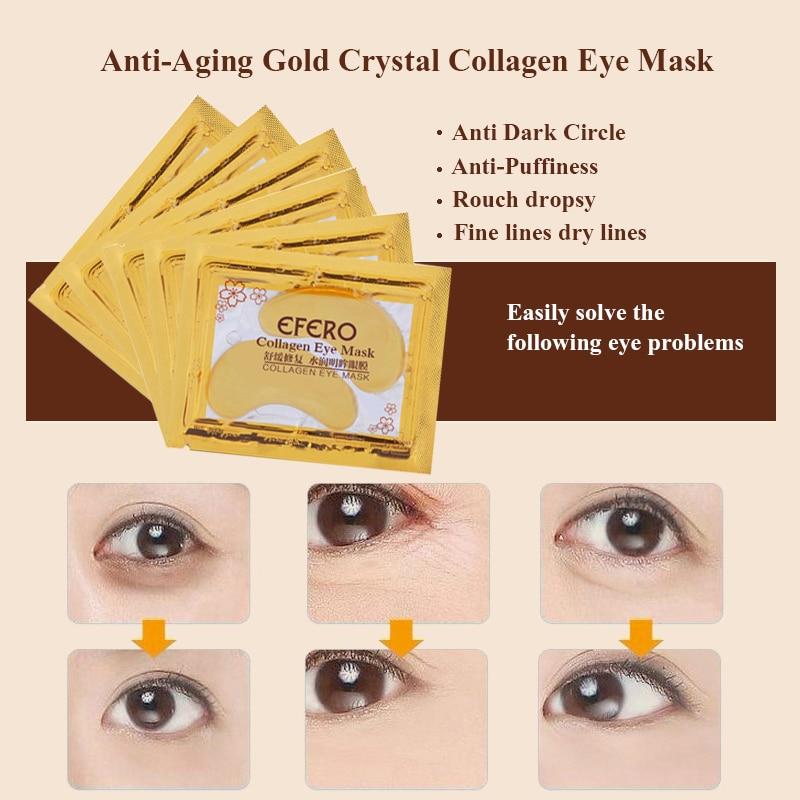 20st = 10pack EFERO Crystal Collagen Eye Mask Eye Patches för - Hudvård - Foto 4