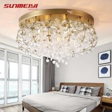 Nordic LED Crystal Ceiling Lights Tree Branch Lamp For Living room Kitchen Cafe Postmodern led tavan aydinlatma