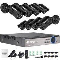 DEFEWAY 1080N HDMI DVR 1200TVL 720 P HD Открытый безопасности дома Камера Системы 8CH видеонаблюдения видеорегистратор AHD комплект видеонаблюдения seguridad