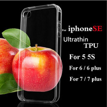 Original Crystal Clear Case For iPhone 5 5S 4 4S 6 6 Plus UltraThin Slim Soft TPU Case For iPhone 7 Plus Back Cover Skin HC17