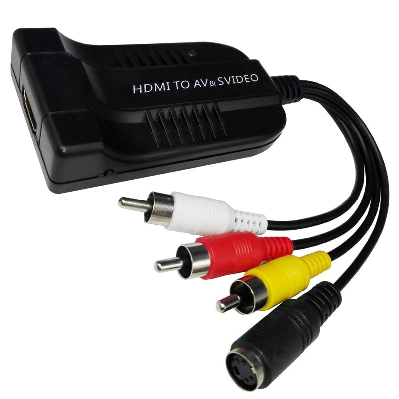 HDMI to S-video & AV Converter Adapter Top Quality 1080P HDMI to S-video & AV CVBS Video Converter NTSC / PAL best solution vx8812 1080p hdmi to av s video adapter s video cvbs video converter hdmi to av
