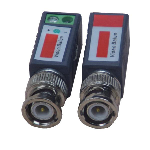 ФОТО 50pcs  Accessories Twisted CCTV Video Balun Passive Transceivers 3000FT Distance UTP Balun BNC Cable Cat5 CCTV UTP Video Balun