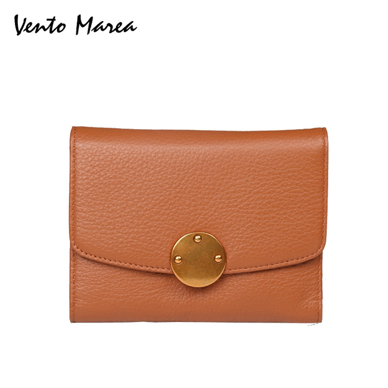 Women bags For 2017 Genuine Leather Coin Card Lady Fashion Small Purse Short Female Clutch Carteras Famous Designer Promotion promotion women