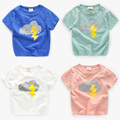 Children slub cotton T-shirt 2017 summer clothing baby boy Shirt Short Sleeve Shirt U2214