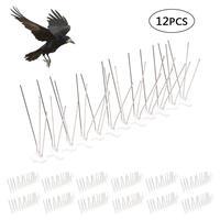 12pcs Plastic Bird and Pigeon Spikes Anti Bird Anti Pigeon Spike for Get Rid of Pigeons and Scare Birds Pest Control