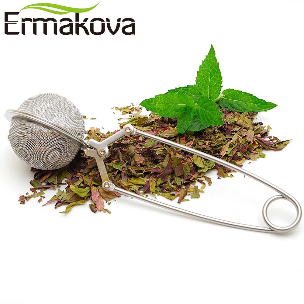 ERMAKOVA Çay süzgəci Yüksək keyfiyyətli əlverişli paslanmayan poladdan hazırlanan çay mesh topu filtri sabit çay topu güclü çay infuziyası