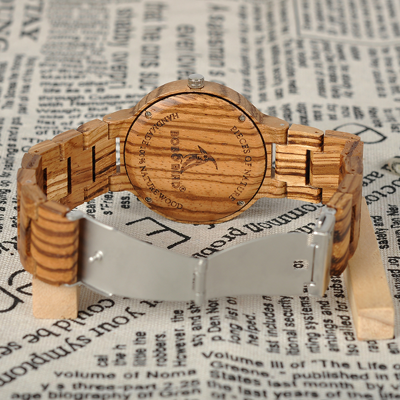 BOBO BIRD Wood Watch Mehed Relogio Masculino Luksuslik disain Quartz - Meeste käekellad - Foto 4