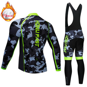 Image 2 - winter fleece cycling set 2020 Long Sleeve Mountain Bike Clothes Wear Maillot Ropa Ciclismo Quick Dry Racing Bicycle Clothing