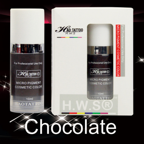 ФОТО 1Pcs Top Professional Vacuum Aseptic Makeup Pigment 10ml/bottle Chocolate Permanent Makeup Tattoo Ink With Box
