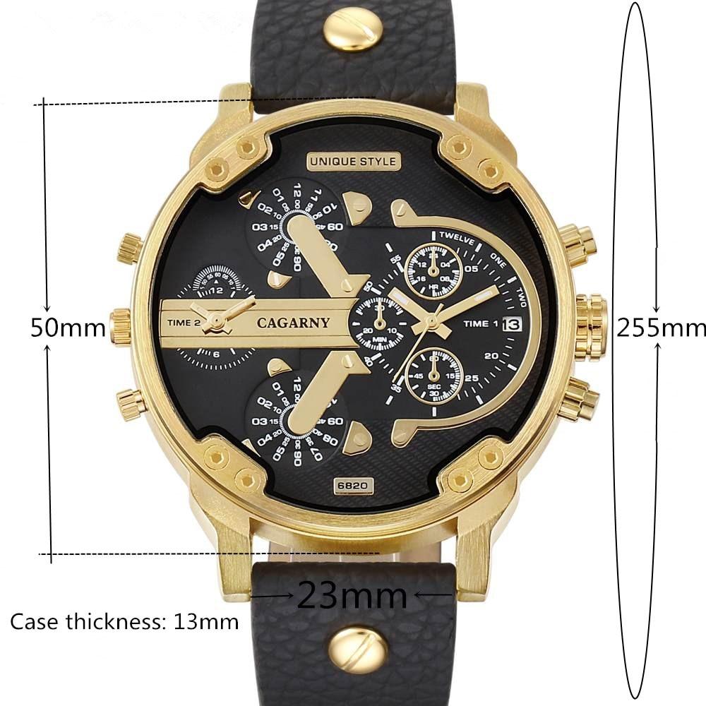CAGARNY Fashion Luxury Top Marka Man Zegarki skórzany pasek - Męskie zegarki - Zdjęcie 2