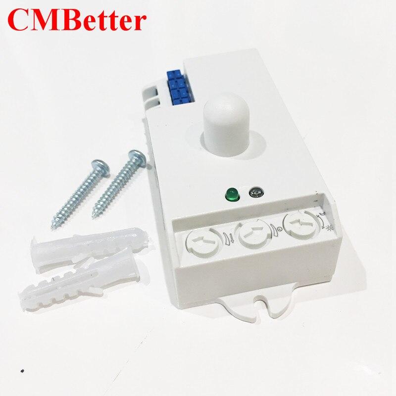 CMBetter 220V IR Infrared Module Sensing Microwave Radar Body Sensor Switch Delay Distance Is Adjustable Useful Home House Tools produino tdl 5002 fbs4935 human body sensing module black