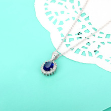 Personalized Birthstone Pendant Necklace 12 Colors Choice