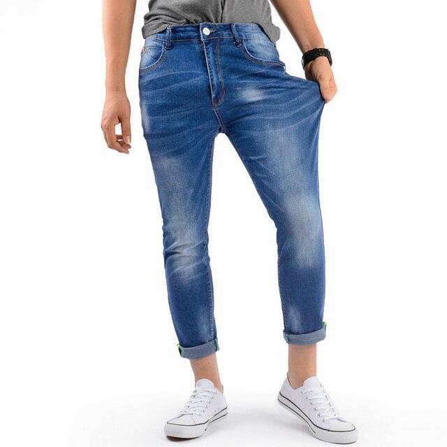 Aliexpress.com : Buy Drizzte Ankle Jeans Men light blue Wash White ...