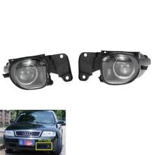 Для Audi A6 C5 1998-2001 Авто Туман свет лампы автомобилей передний бампер решетка для вождения Противотуманные фары комплект 4B0941699A/4B0941700A