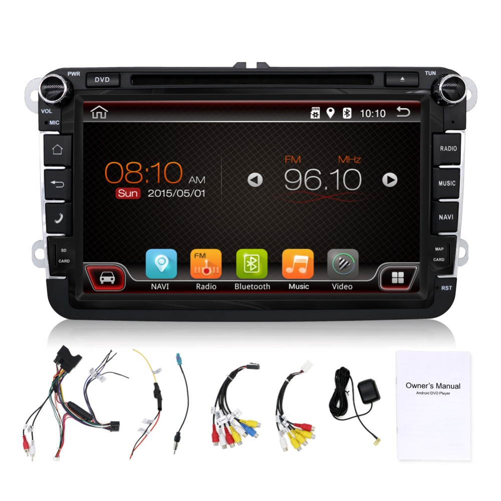 2 Din 8 inch Quad core font b Android b font vw car dvd for Polo