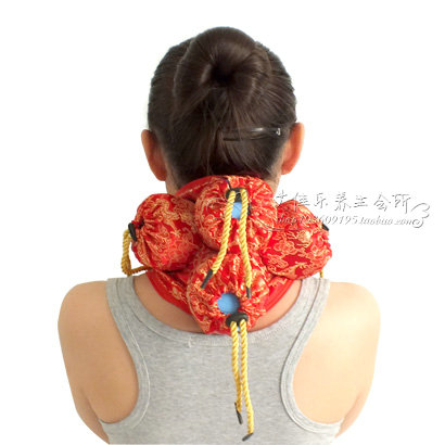 Silks and satins querysystem cauterize neck cloth cover bag moxibustion box utensils neck moxa utensils chinese silks