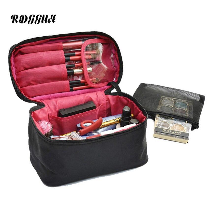 RDGGUH Women Travel Toiletry Bag Purse Small Makeup Bag Storage Organizer Make Up Beauty Clutch Professional Cosmetic Bags Box