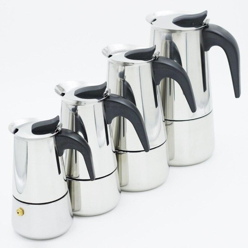 Coffee Maker Moka Espresso Latte Piano Cottura Filtro Caffettiera Coffee Machine Cafeteira Expresso 100 ML 200 ML 300 ML 450ML