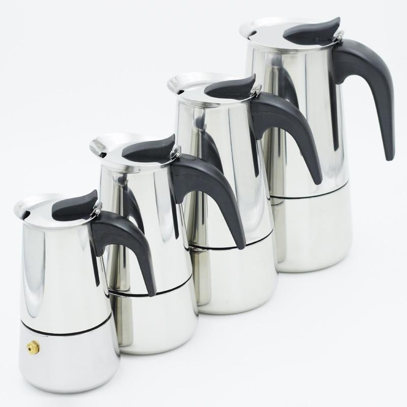 Moka Espresso Kaffee Maker Latte Klavier Cottura Filtro Kaffee Maschine Kaffee Topf Percolator Werkzeuge Kaffeebereiter Kaffee Maker Topf