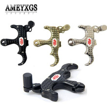 1pc 3 Finger Archery Release Aids Compound Bow Shooting Automatic Thumb Caliper Grip Release Right Hand For Hunting Accessories pro automatic archery bow release aids 3 or 4 finger thumb caliper trigger grip for compound bow hunting shooting accessories