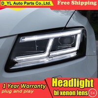 Car Styling For Audi Q5 Headlights 2009 2018 LED DRL High Low lamp Full LED Automobile Accessories with dynamic turn signal