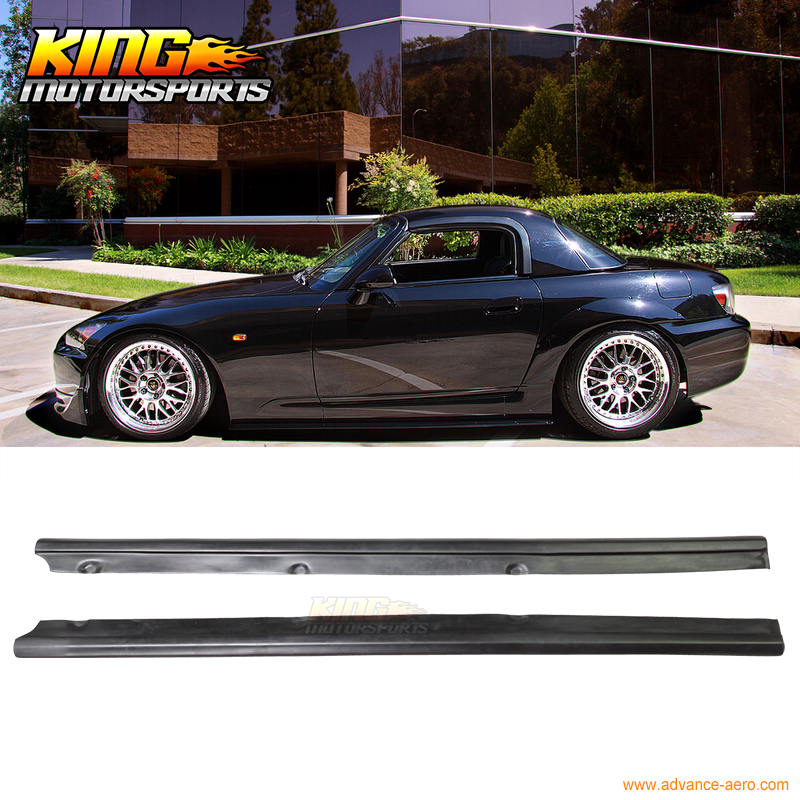 Fit Df Style Side Skirts Splitters Bottomline Lip 2000-2009 Honda S2000 S2K Ap1 Ap2
