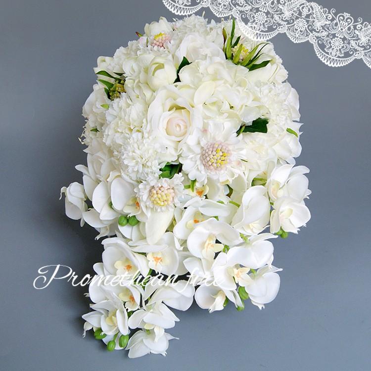 Bridesmaid flower wedding accessories bridal bouquets artificial bruidsboeket fleurs bouquet mariage 10