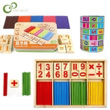 Brinquedo de madeira/plástico para bebês, blocos montessori, brinquedos educativos, inteligência matemática, vara de blocos de construção, presente gyh, venda imperdível