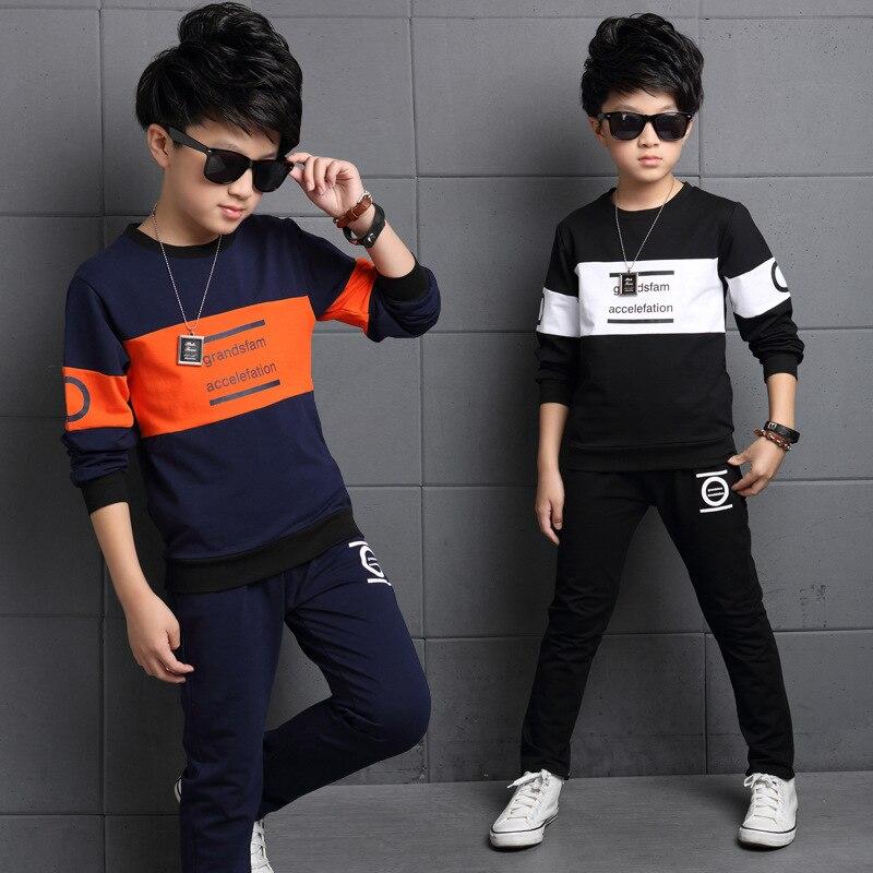 Boys Tracksuit 2019 Spring Children Clothing Sets Cotton T-Shirt +  Pants 2 Pcs Sport Suit Boy Clothes Set Costumes