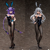 43cm Anime Hyperdimension Neptunia FREEing Purple Heart Sexy Bunny girl Ver. PVC Action Figure Collectible Model Toys For Gift