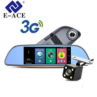E ACE D07 Android 3G 7Inch Europa GPS Navigation Wifi Car Dvr 1080P Navigator Tracher Video Recorder Rearview Mirror For Tourism