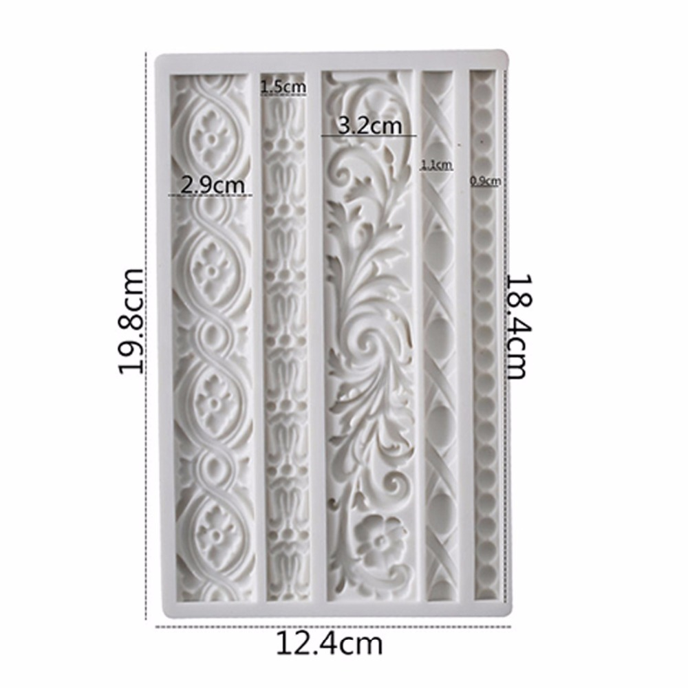 27 styles Silicone Fondant molds sugar craft cake tools Home decoration mould bakeware vintage art decoration molds clay molds