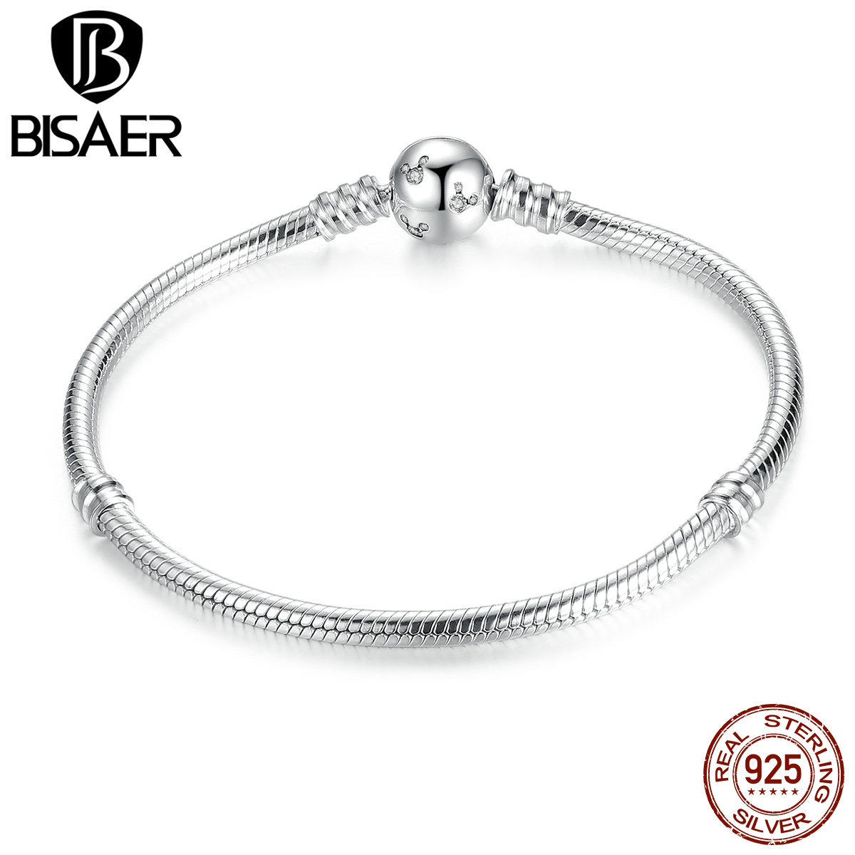 все цены на Authentic 925 Sterling Silver Snake Chain Dsny, Miky Basic DIY Charm Bracelet & Bangles for Women DIY Fine Silver Jewelry GOS912 онлайн